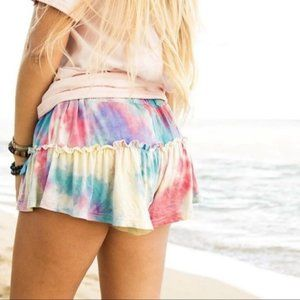 ⬇ Simply Southern Draw Tie Dye Shorts SMALL